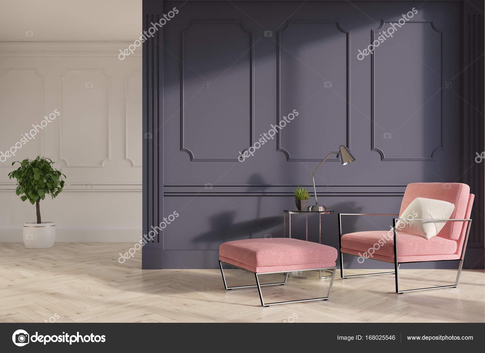 Cool Wohnzimmer Grau Rosa Referenz Von Gehobene Interieur Mit Grauen Und Weißen Wänden