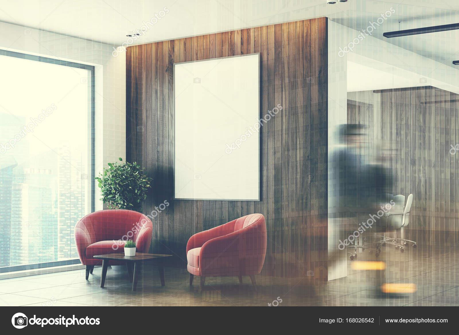 Ufficio Legno Bianco : Sala dattesa ufficio bianco e legno lato doppio u2014 foto stock