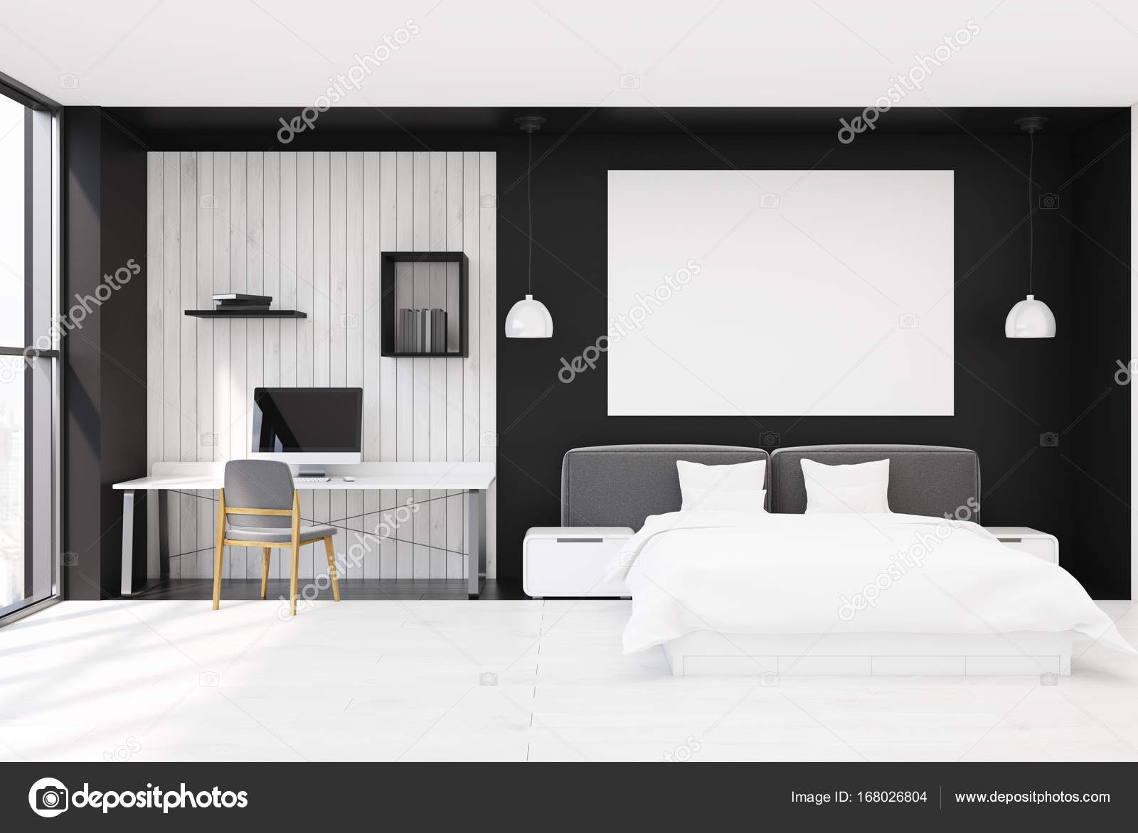 best schwarz wei schlafzimmer contemporary house design ideas. Black Bedroom Furniture Sets. Home Design Ideas