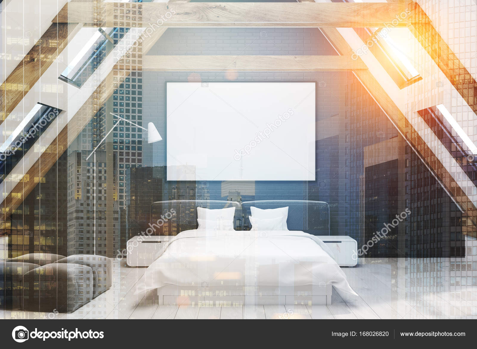 Schwarze dachboden schlafzimmer innenraum get nt - Dachboden schlafzimmer ...