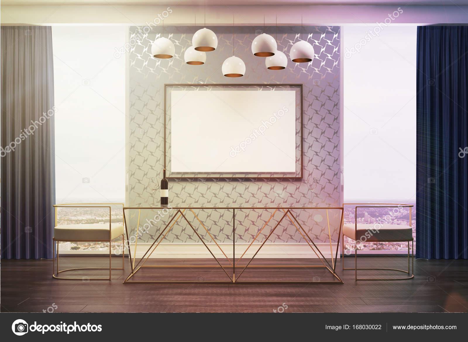 Cadeiras Sala Cinza Branco Tonificada De Cartaz Stock Photo