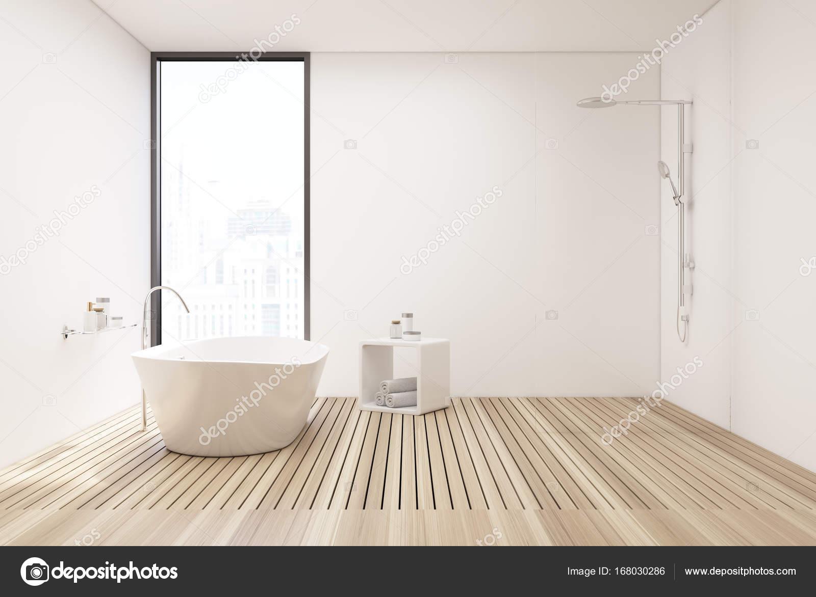 Holzboden-Bad und Dusche — Stockfoto © denisismagilov #168030286