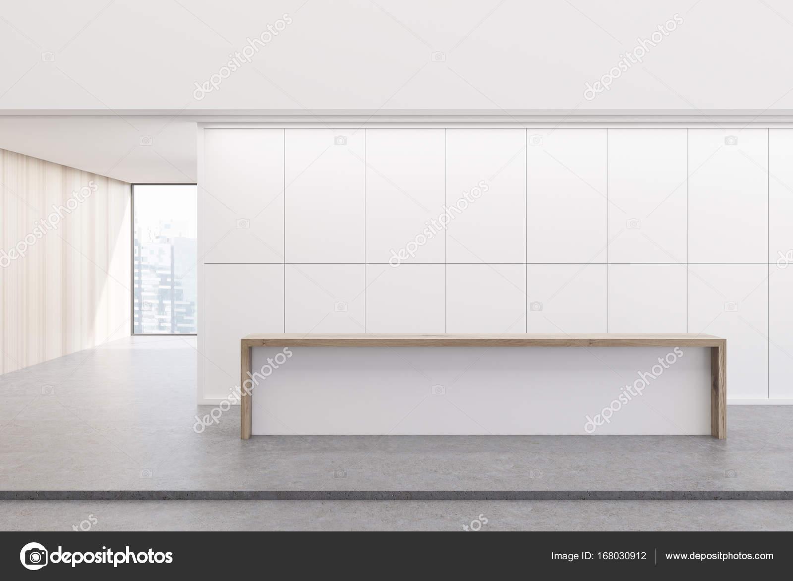 Ufficio Bianco E Legno : Ufficio ricevimento bianco e legno u foto stock denisismagilov
