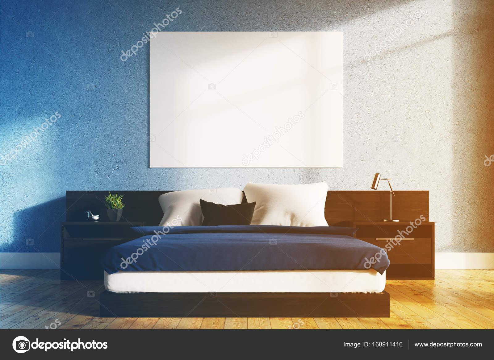 Camera Da Letto Blu : Foto cornici di led blu in camera da letto di verde mattone srl