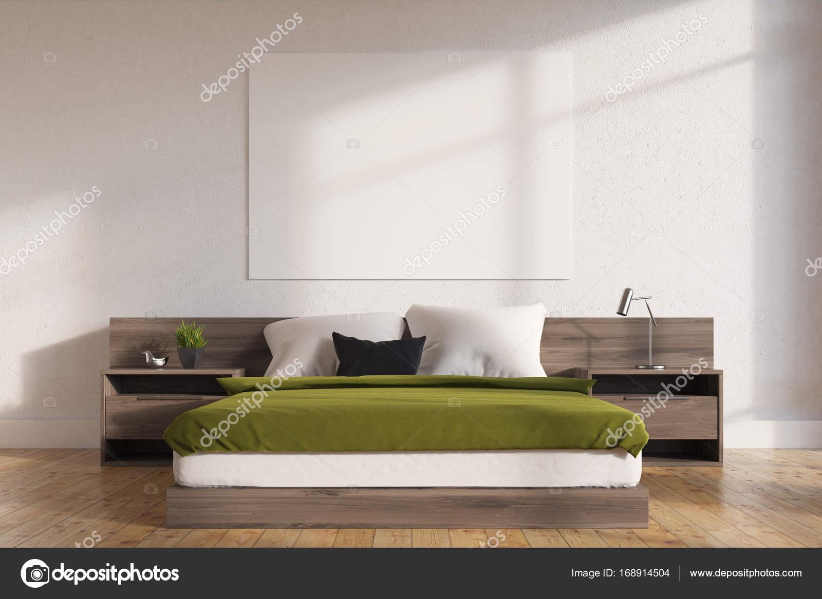 Poster interni, camera da letto verde — Foto Stock © denisismagilov ...