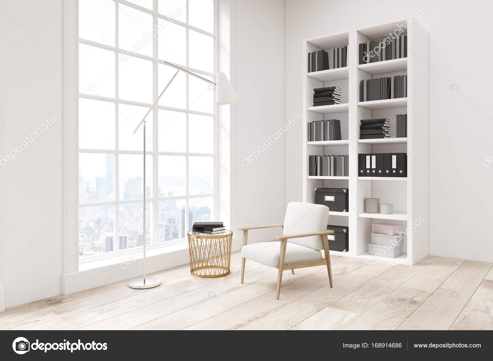 Blickfang Weißes Bücherregal Das Beste Von Ecke Von Einem Weißen Wohnzimmer Interieur Mit