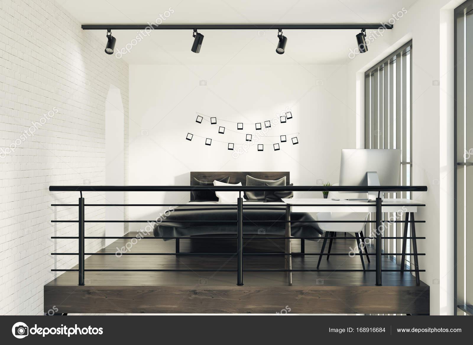 Grijs Wit Slaapkamer : Wit slaapkamer met een fotogalerij grijs u2014 stockfoto