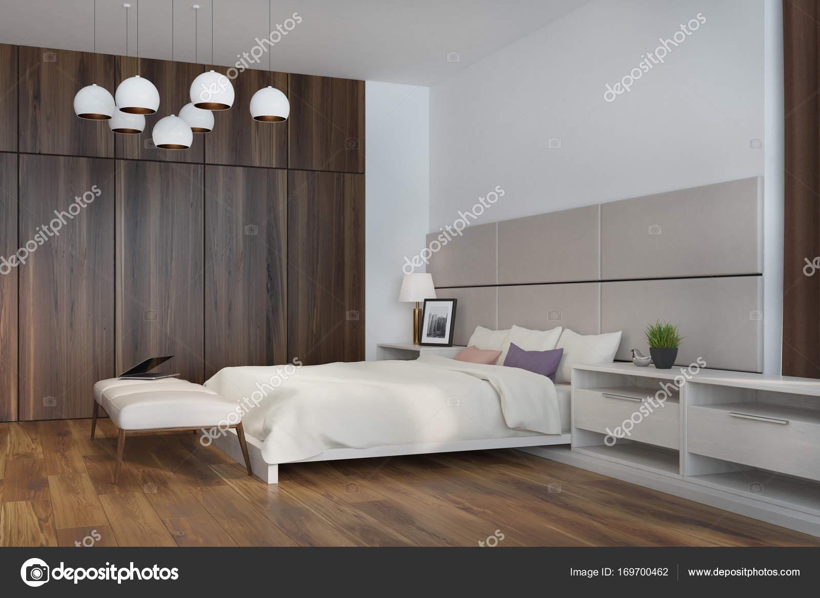 Wit en beige slaapkamer, kant — Stockfoto © denisismagilov #169700462
