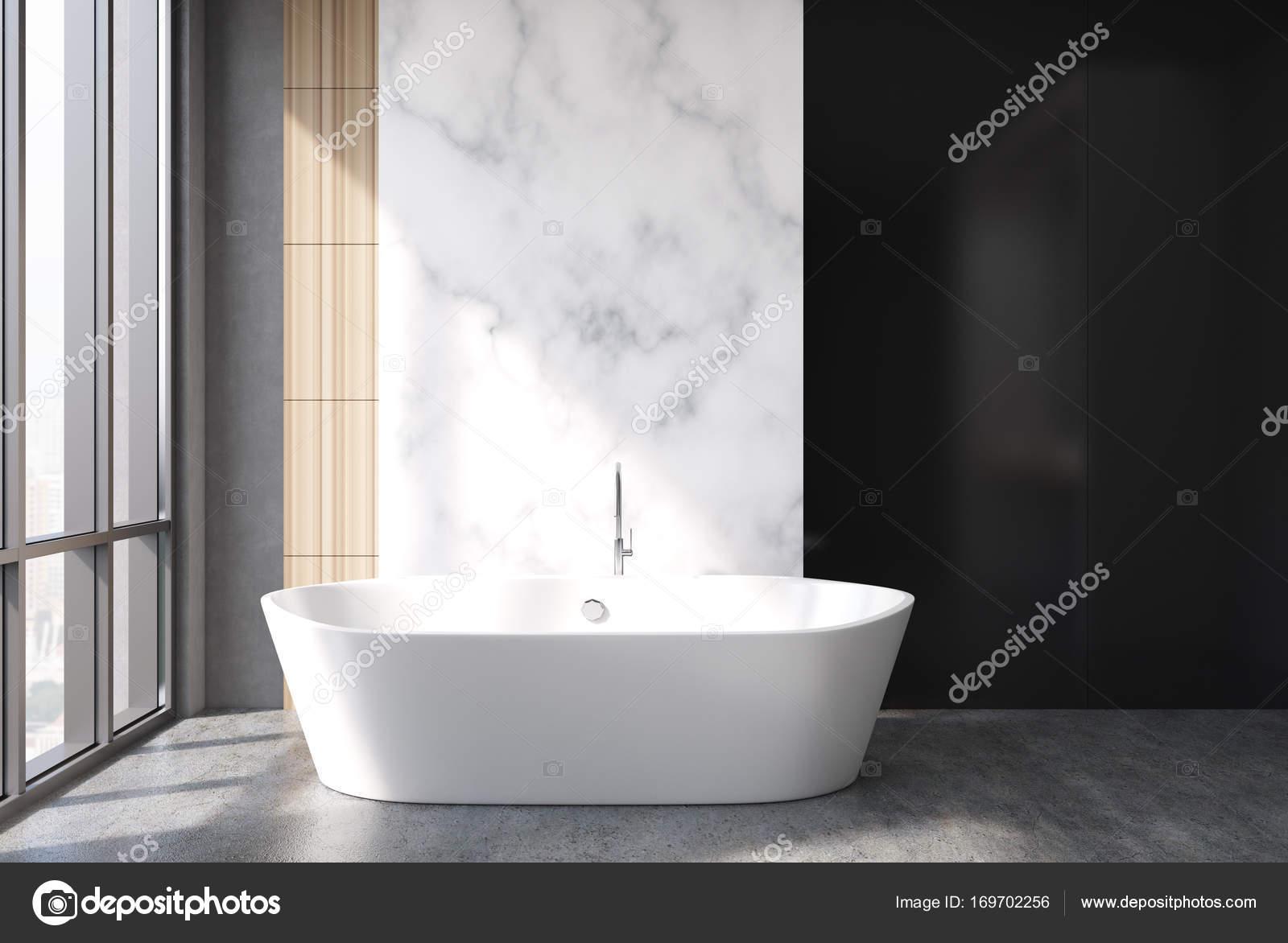 Badkamer Met Marmer : Marmer en zwarte badkamer bad u stockfoto denisismagilov