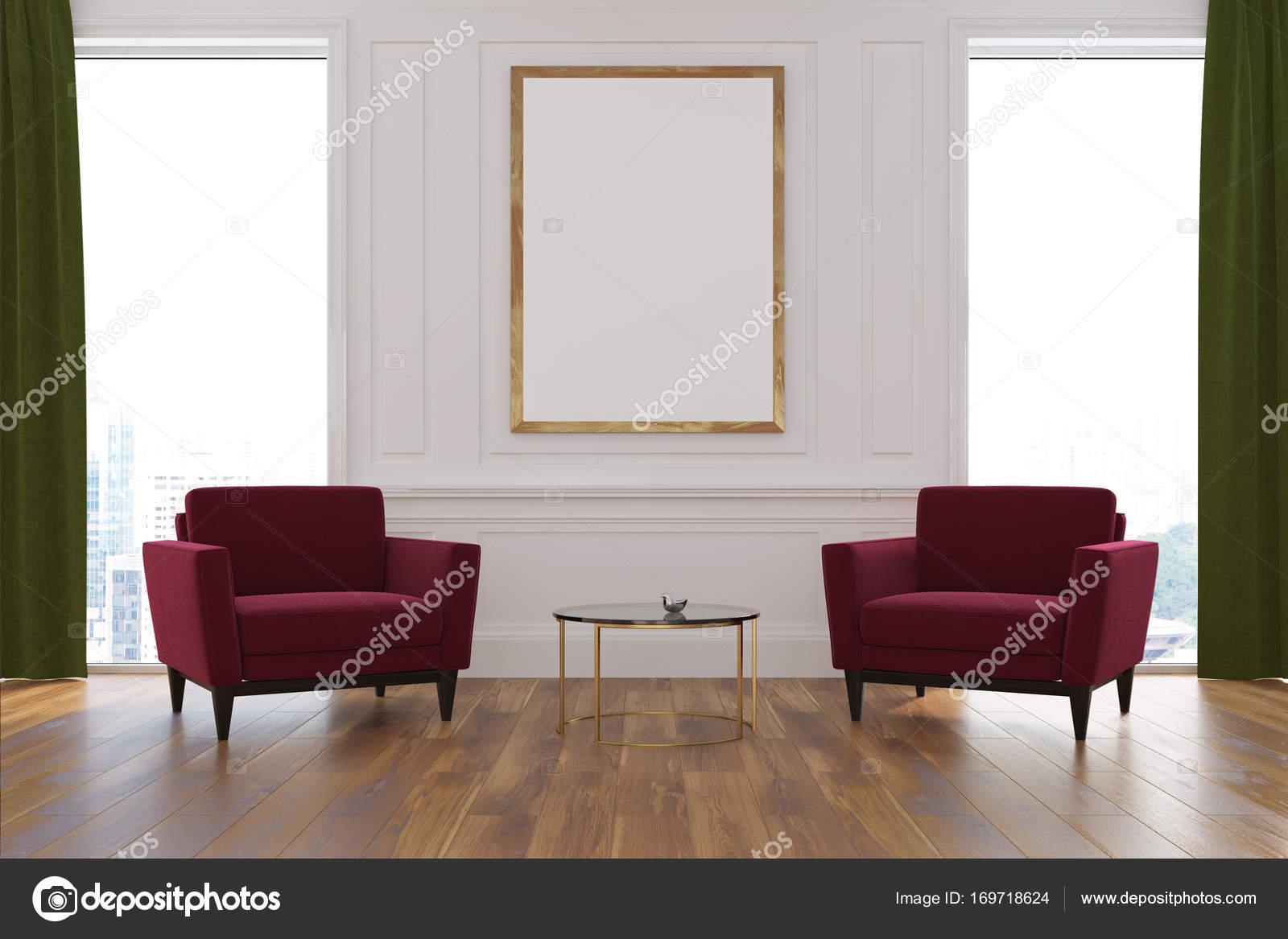Wit woonkamer, Fauteuils, poster — Stockfoto © denisismagilov #169718624