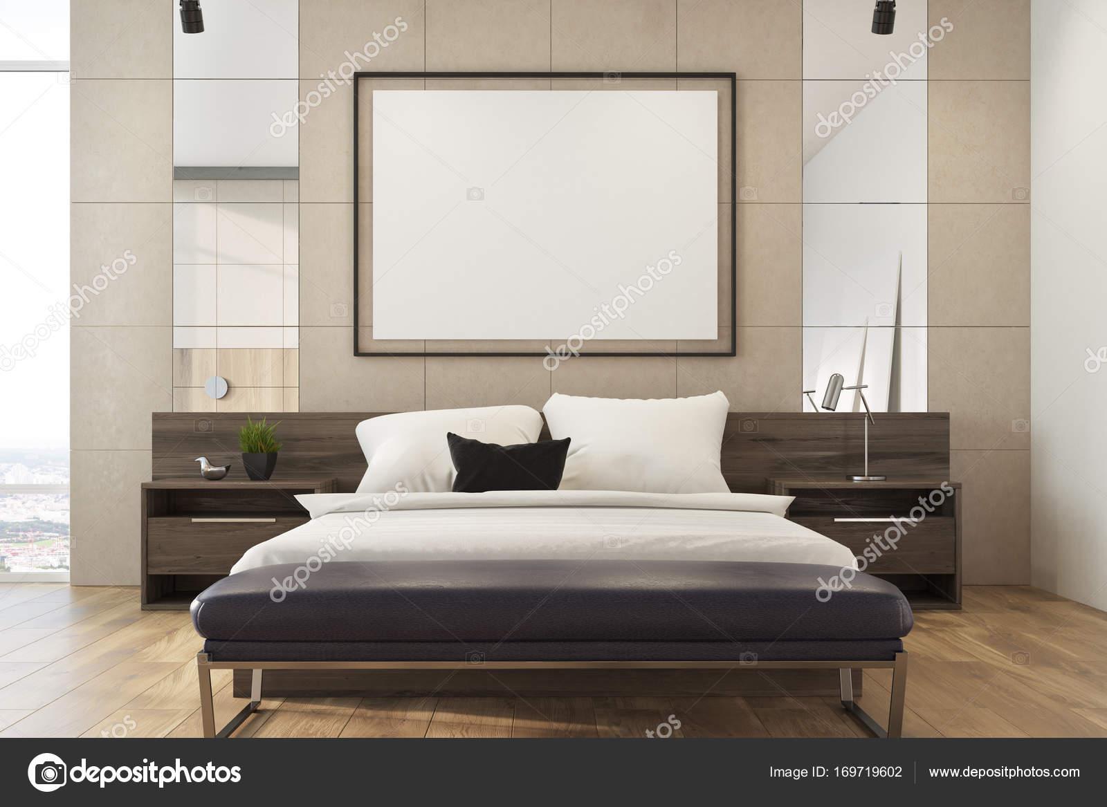 Camera da letto loft beige, poster — Foto Stock © denisismagilov ...