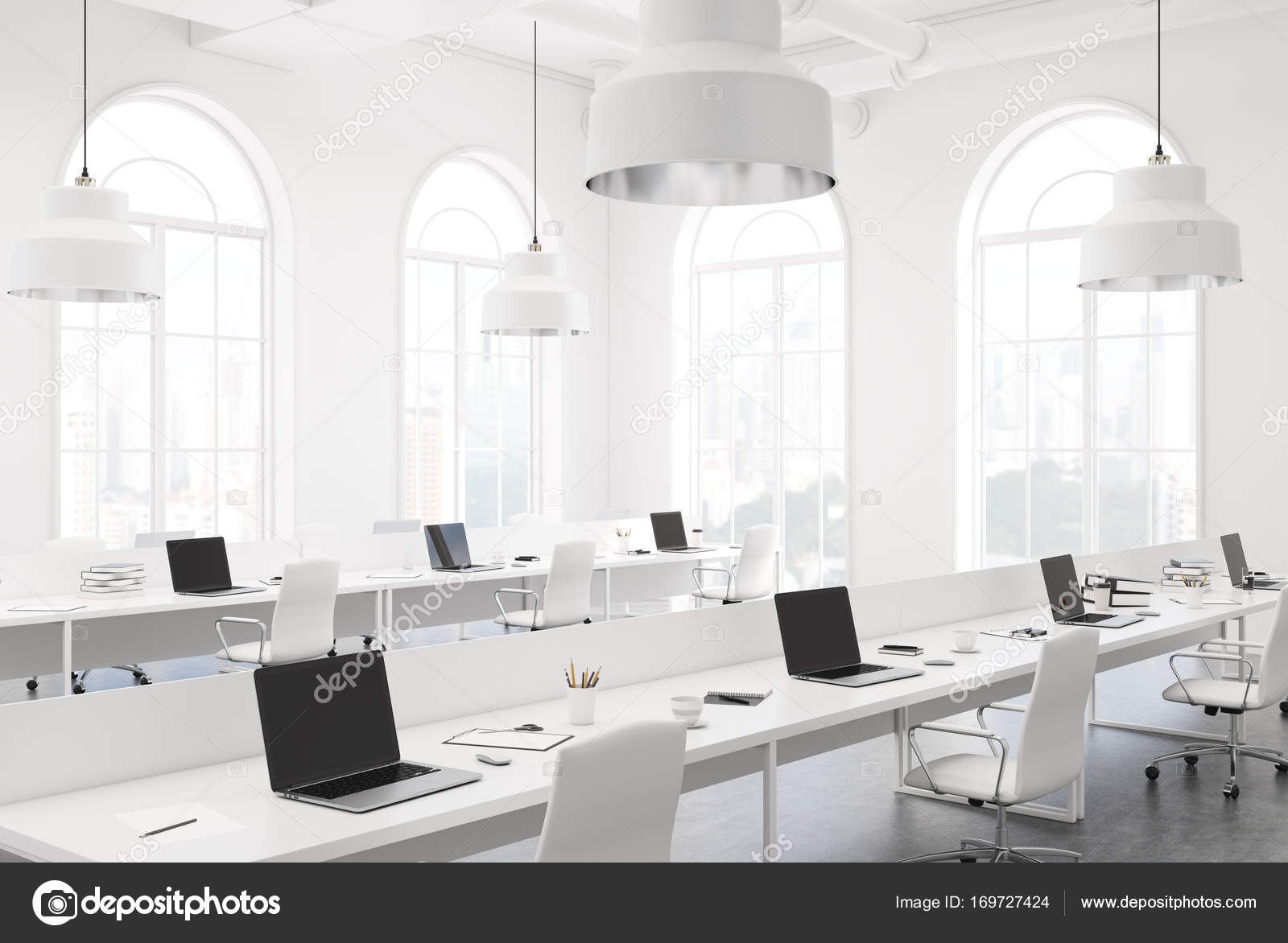 Freiraum-Büro-Ecke weiß — Stockfoto © denisismagilov #169727424