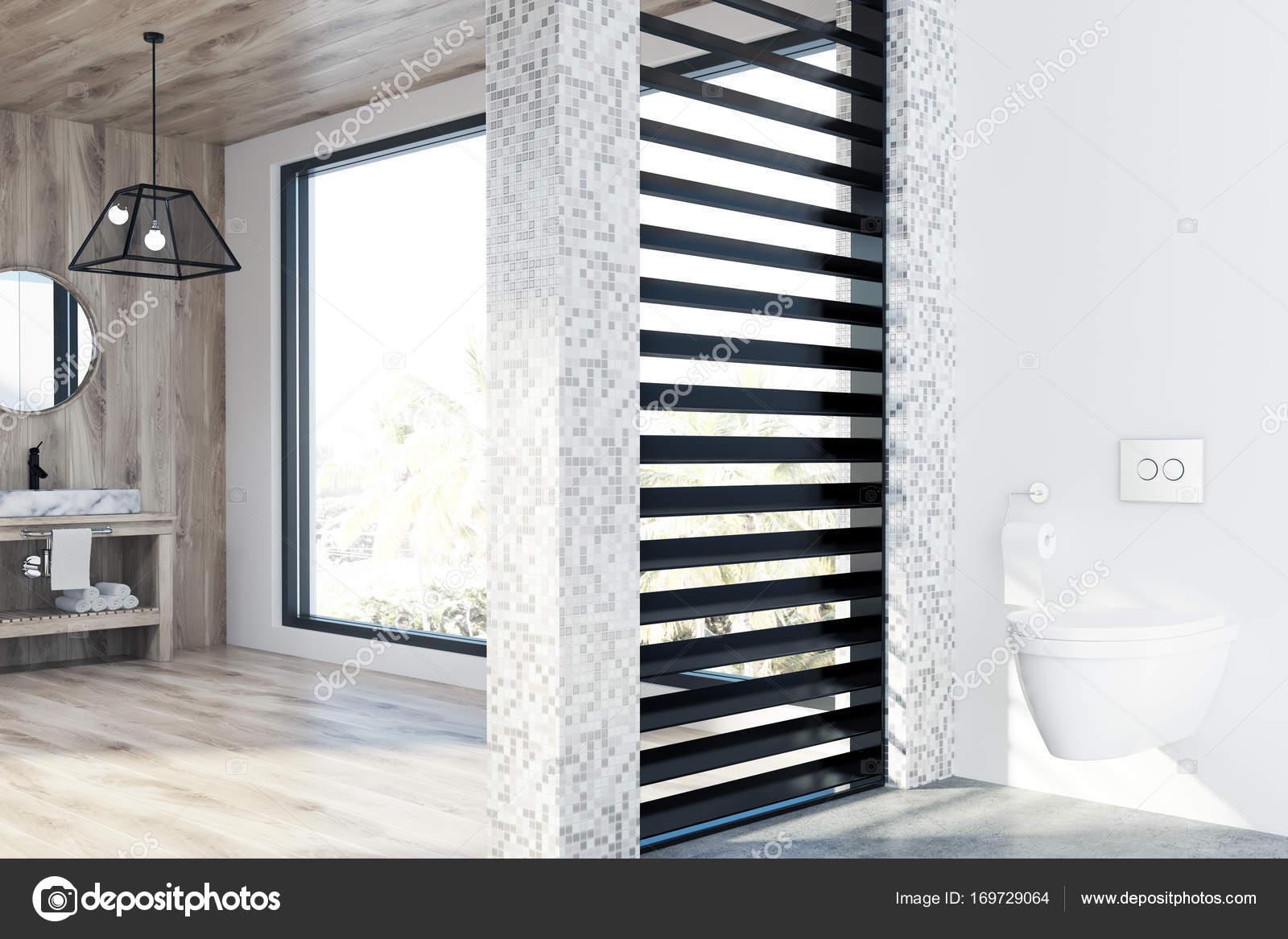 Loft houten badkamer wastafel en toilet u2014 stockfoto