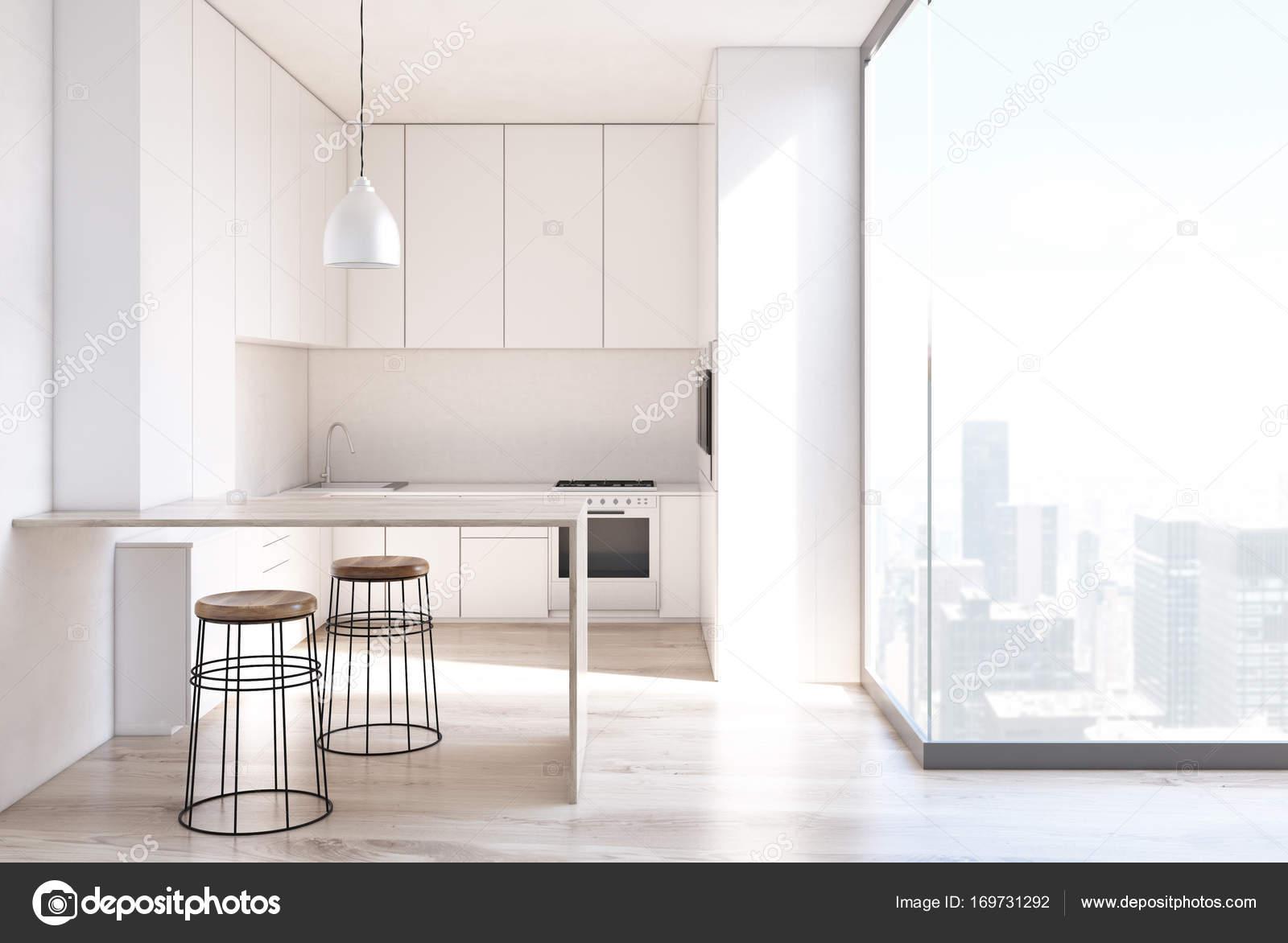 Keuken Interieur Scandinavisch : Scandinavische keuken interieur bar stand loft u stockfoto