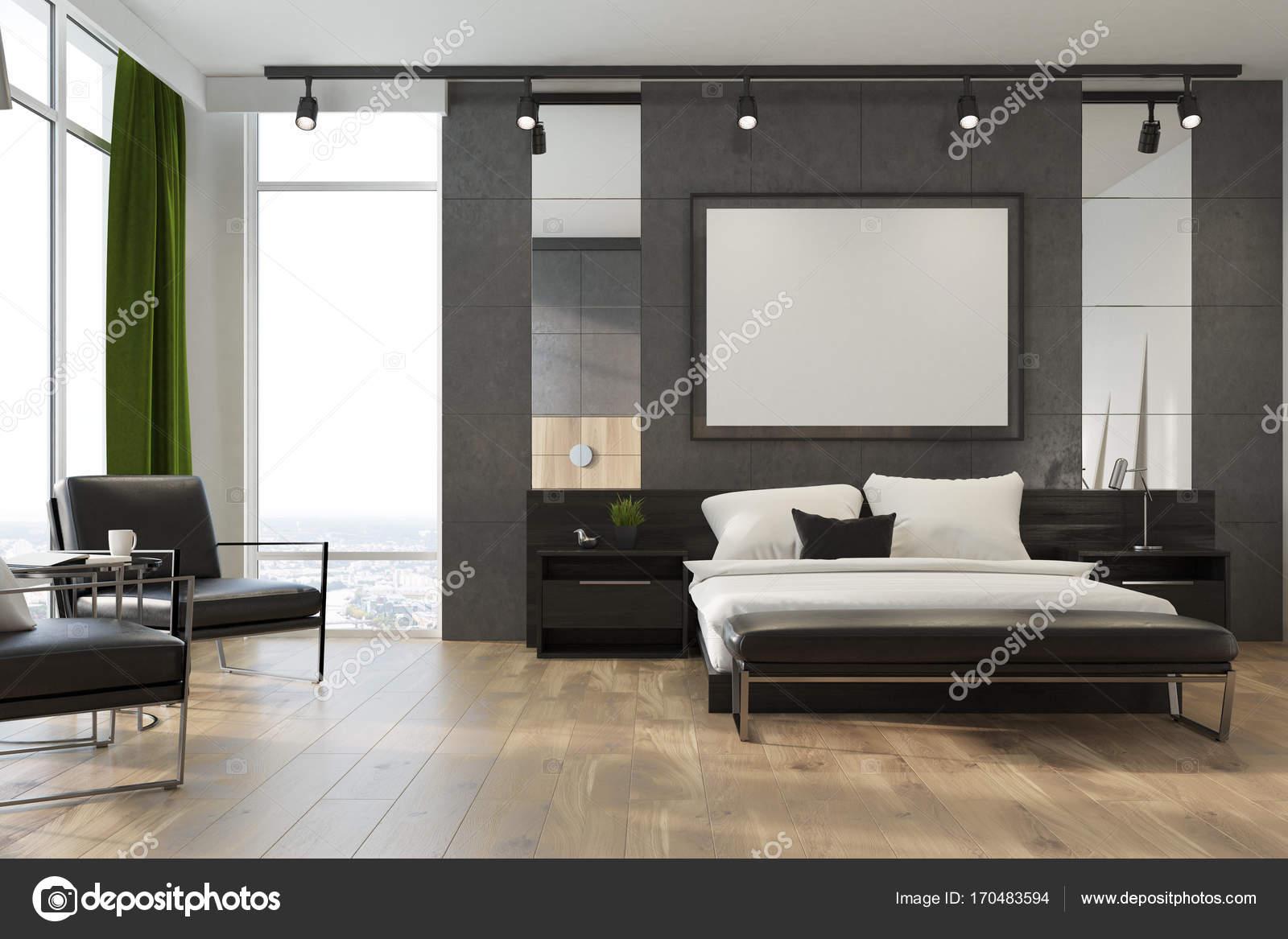 Camera da letto loft grigio lato poster foto stock denisismagilov 170483594 - Poster camera da letto ...