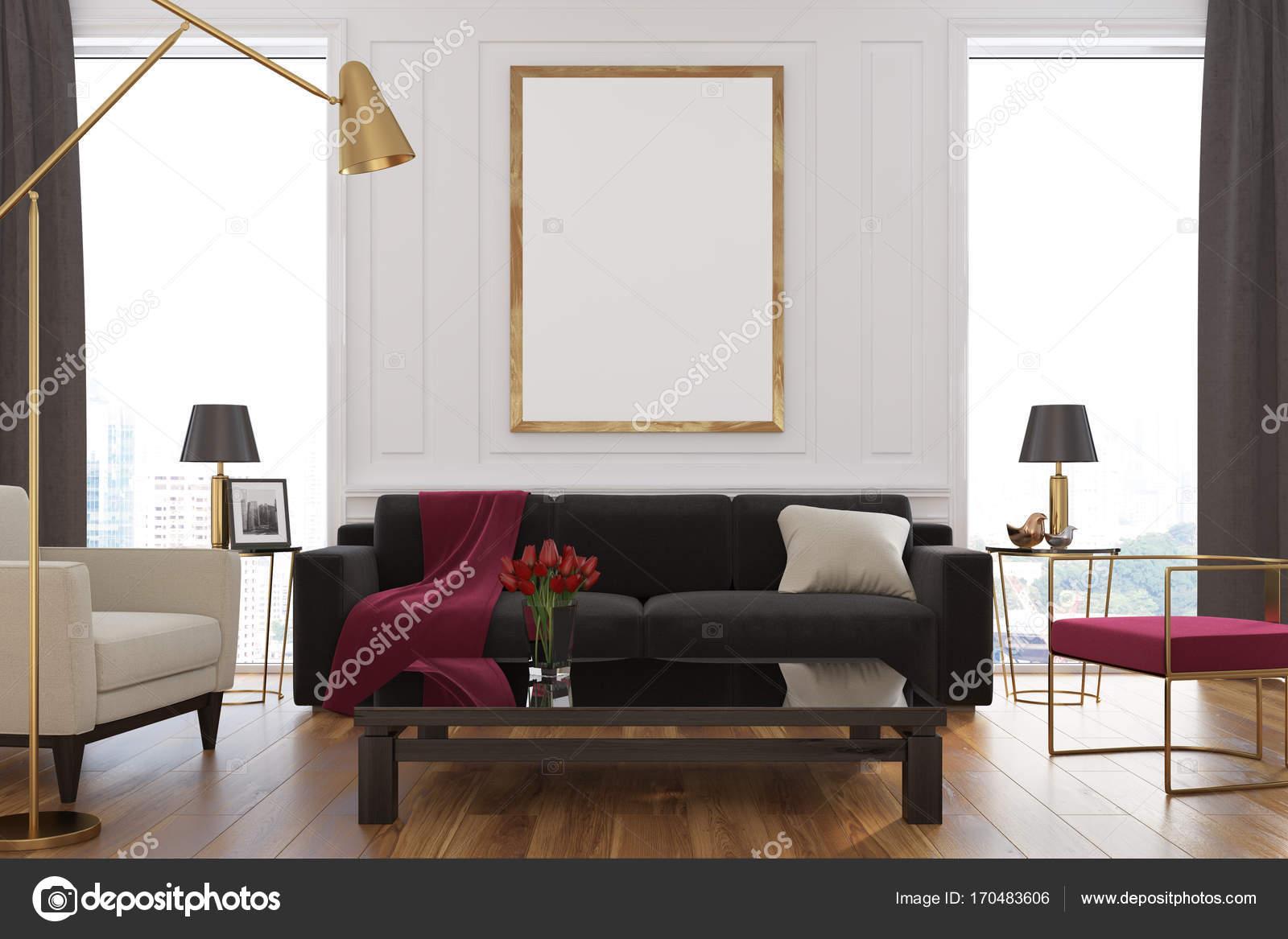 Weiß, Wohnzimmer, Sofa, poster — Stockfoto © denisismagilov #170483606