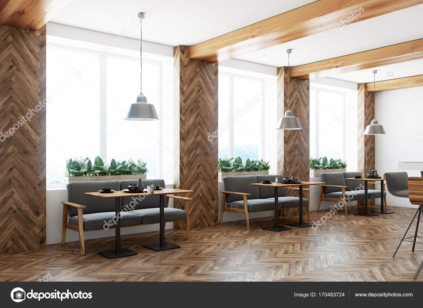 Bar interni grigi divani, angolo — Foto Stock © denisismagilov ...