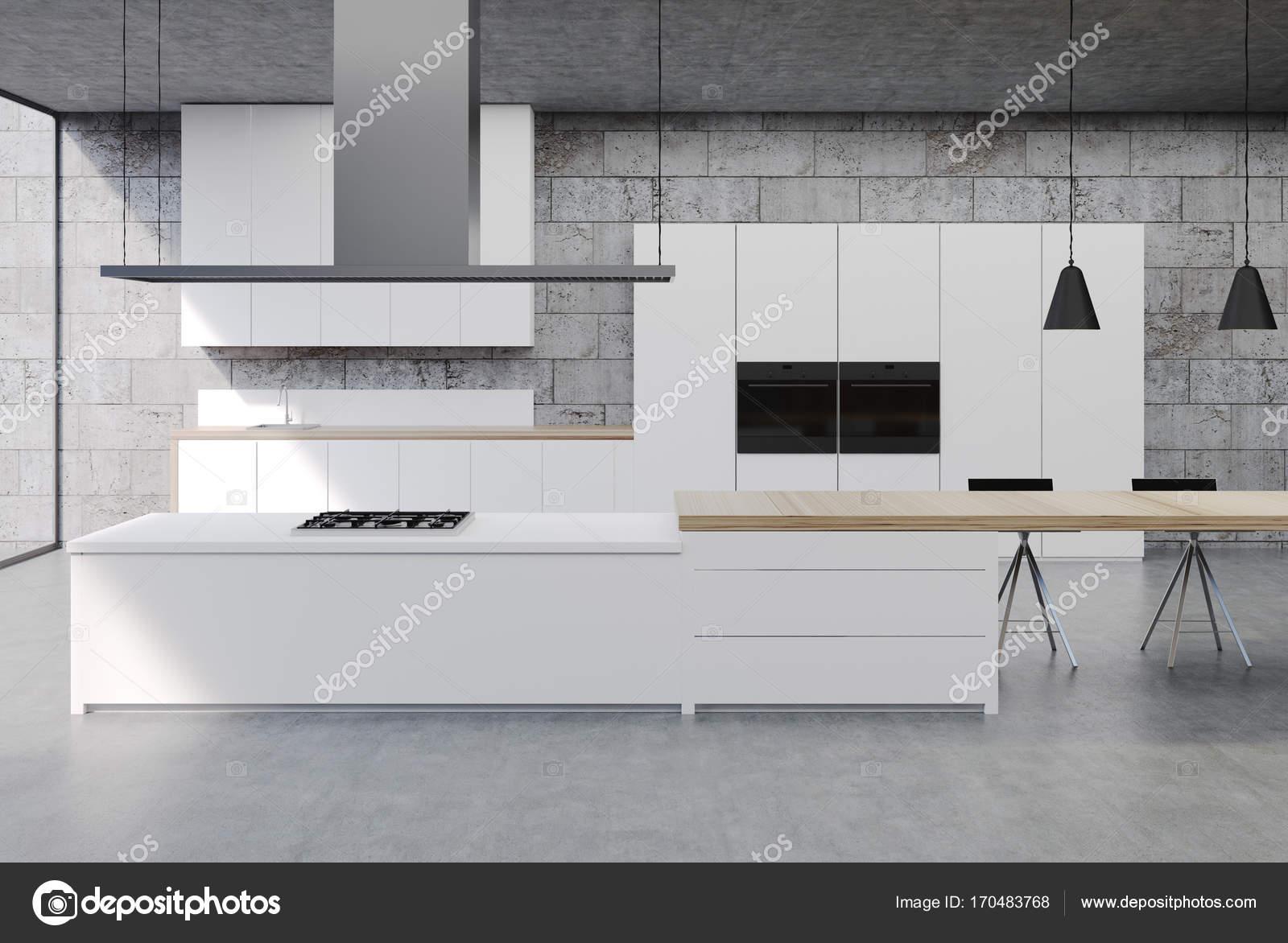 Konkrete Küchenschränke innen, weiß — Stockfoto © denisismagilov ...