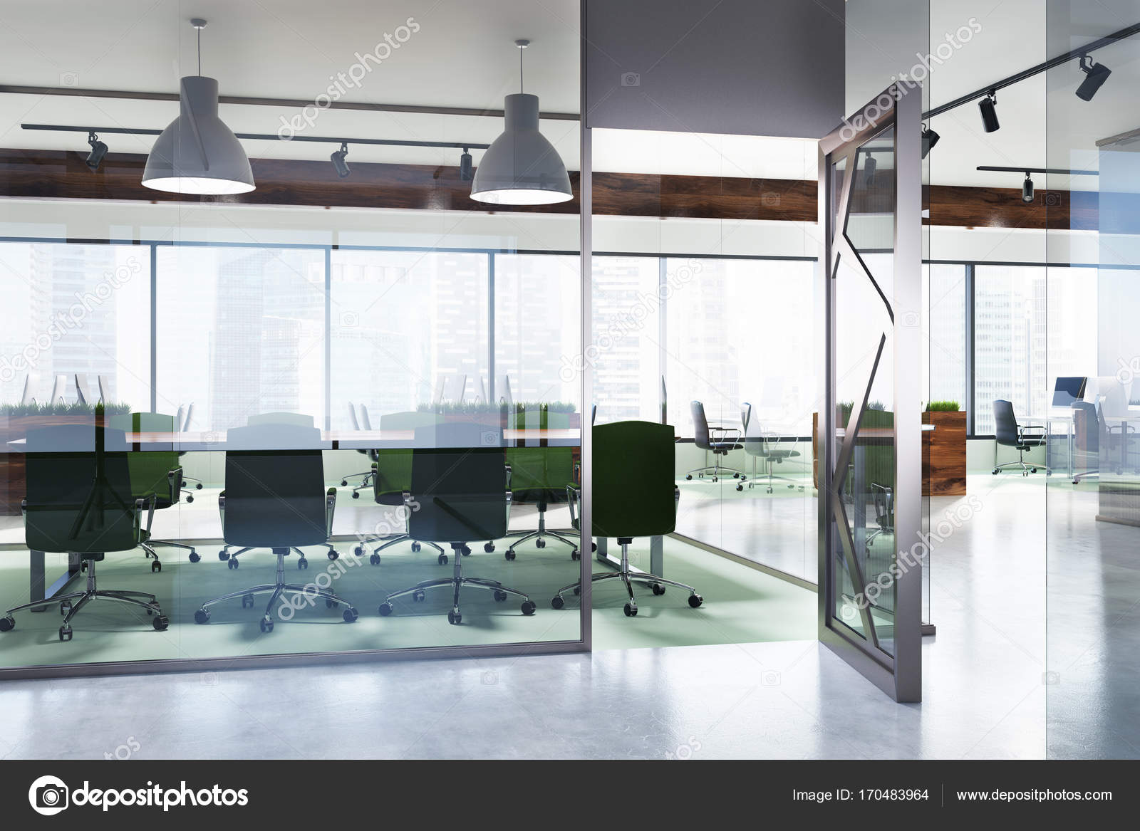 Environment Friendly Office Meeting Room Stock Photo