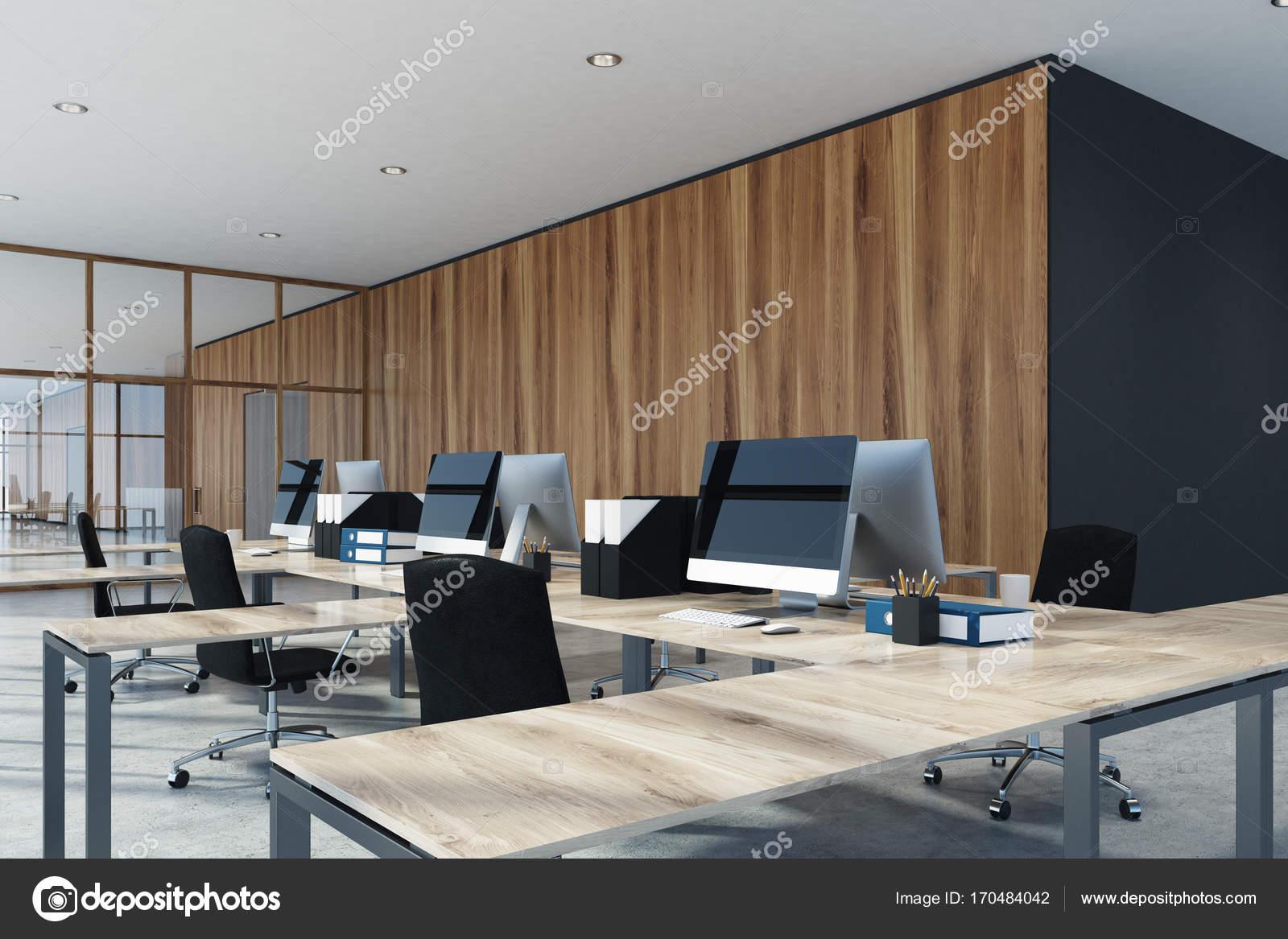 Ufficio Legno E Vetro : Ufficio di legno e vetro interno u2014 foto stock © denisismagilov