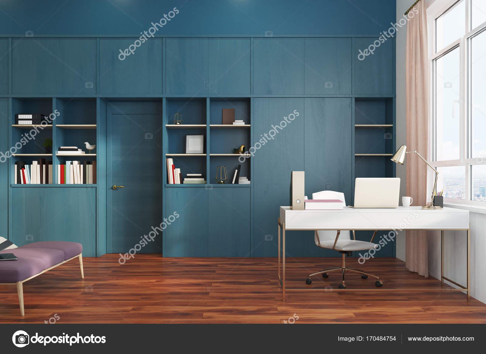 Chambre blanche et côté intérieur de bureau à domicile