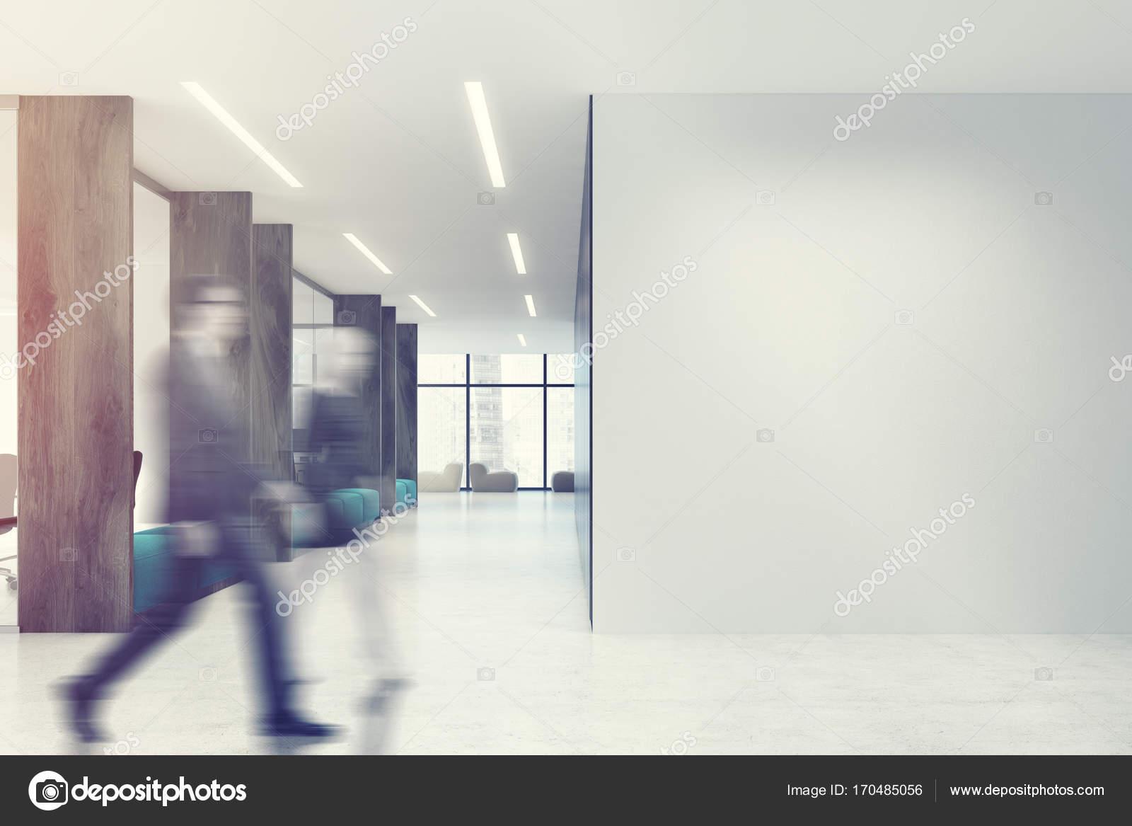 Ufficio Bianco E Legno : Bianco legno aperto spazio ufficio blu divani tonica u foto