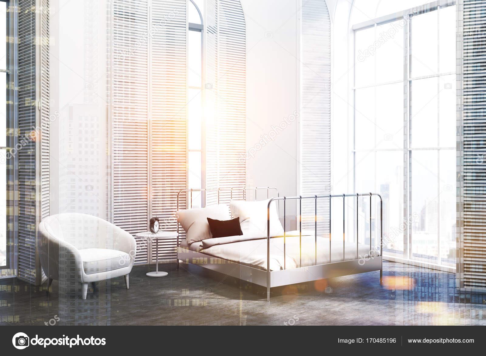 3d Fußboden Schlafzimmer ~ Weiße luxus schlafzimmer sessel grauer fußboden doppelt