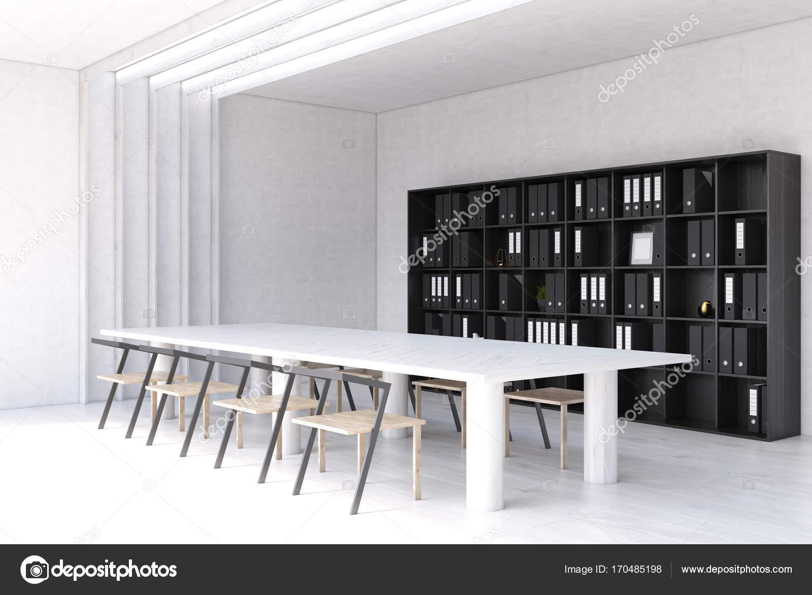 Weiße moderne Treffen Raum-Innenseite — Stockfoto © denisismagilov ...