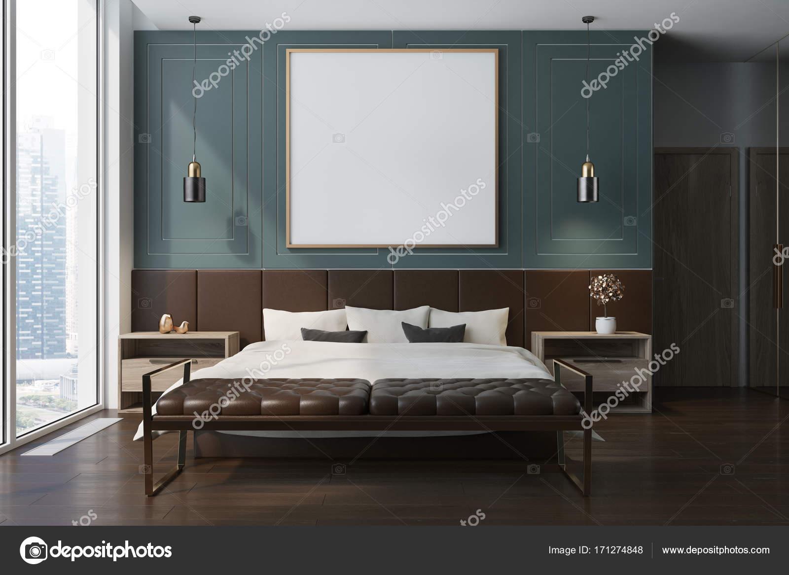 Poster interni, camera da letto blu — Foto Stock © denisismagilov ...