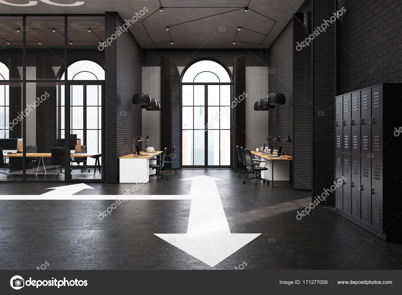 Bureau noir haut de gamme flèches étage u photographie