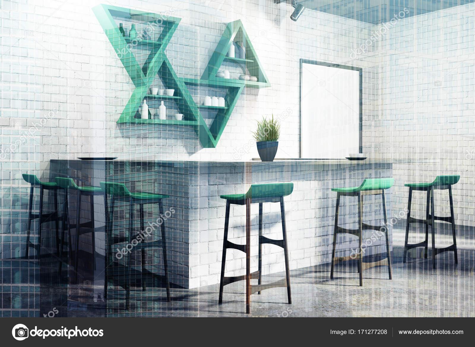 Blanco de la barra esquina interior, soporte, doble — Fotos de Stock ...