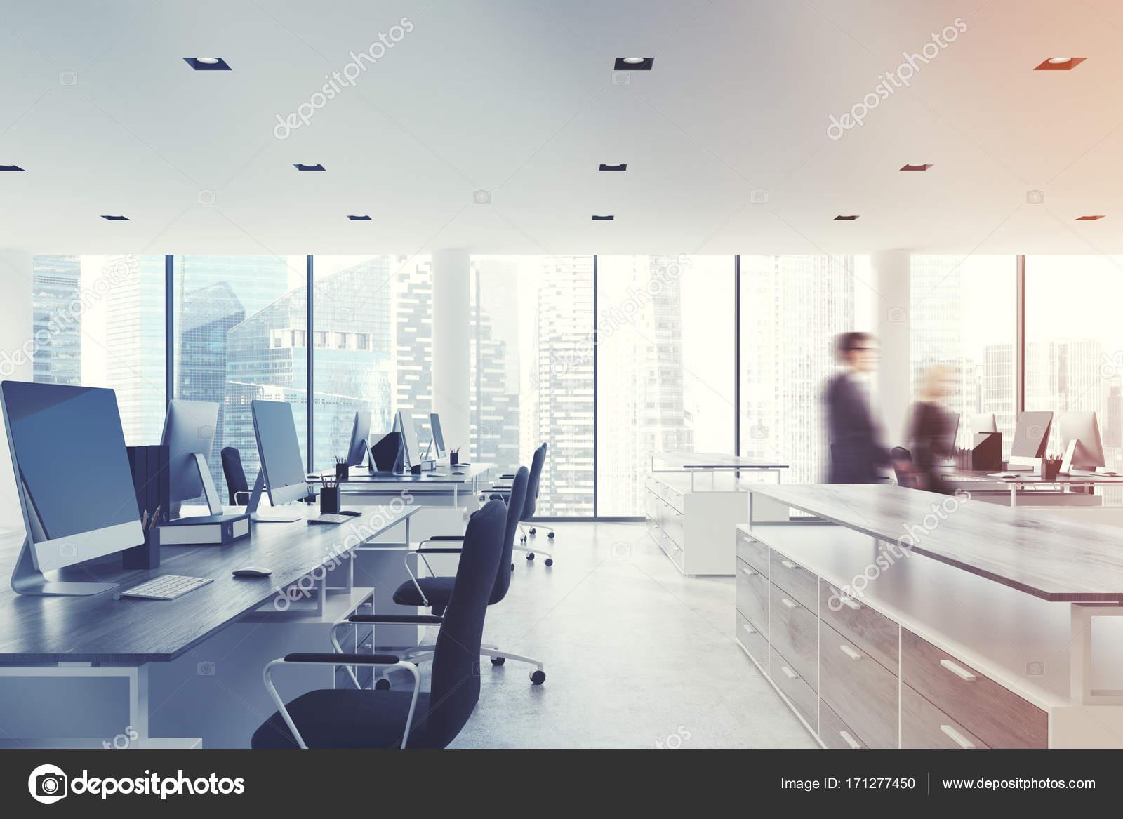 Blanc bureau plafond hommes daffaires côté u2014 photographie