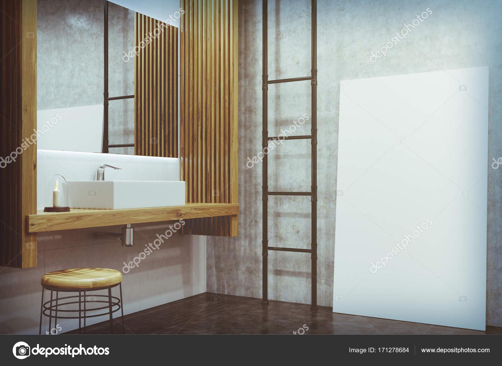 Concrete badkamer wastafel poster toned u2014 stockfoto