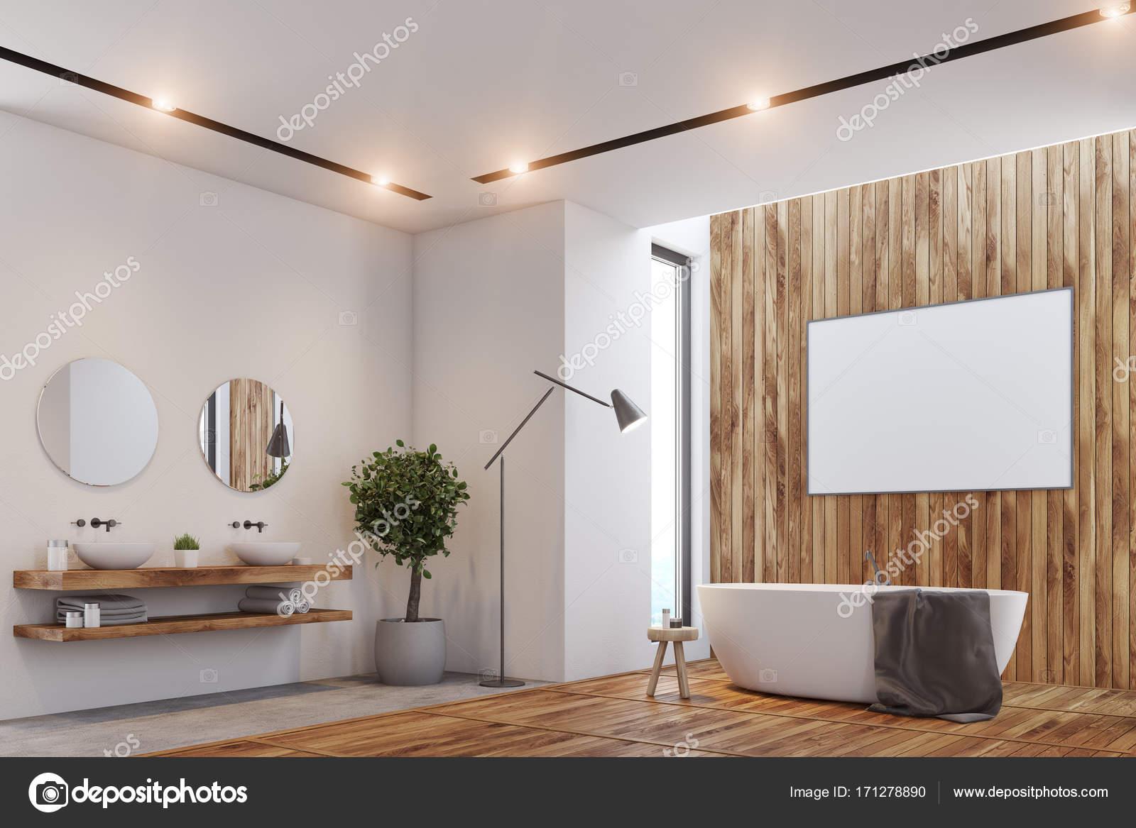 Luxus Badezimmer, Plakat, Wanne Und WC Ecke U2014 Stockfoto