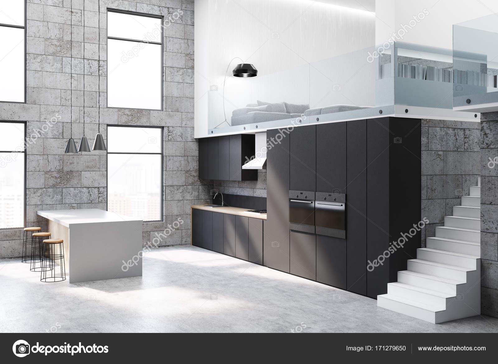 Concreto y negro cocina — Foto de stock © denisismagilov #171279650