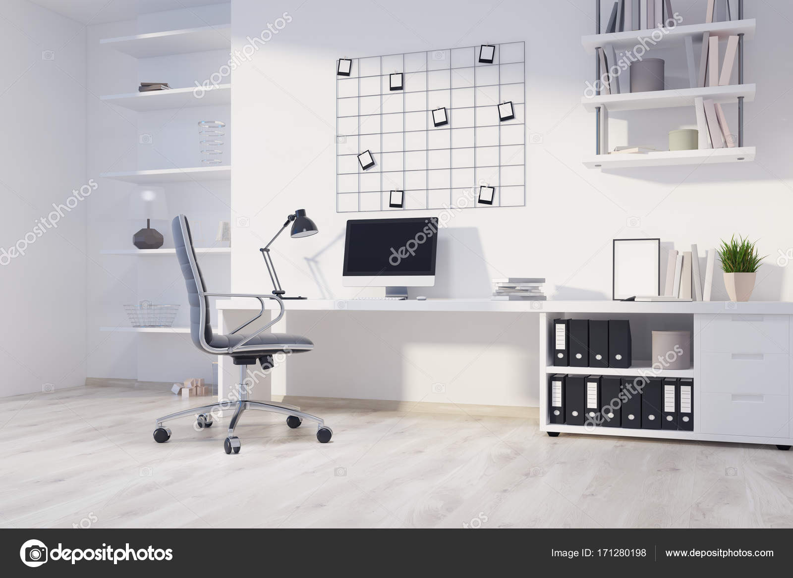 Coin bureau à la maison blanche ordinateur u photographie