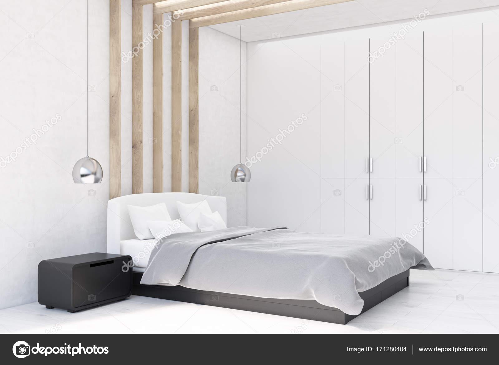 Lato interno camera da letto bianca — Foto Stock © denisismagilov ...