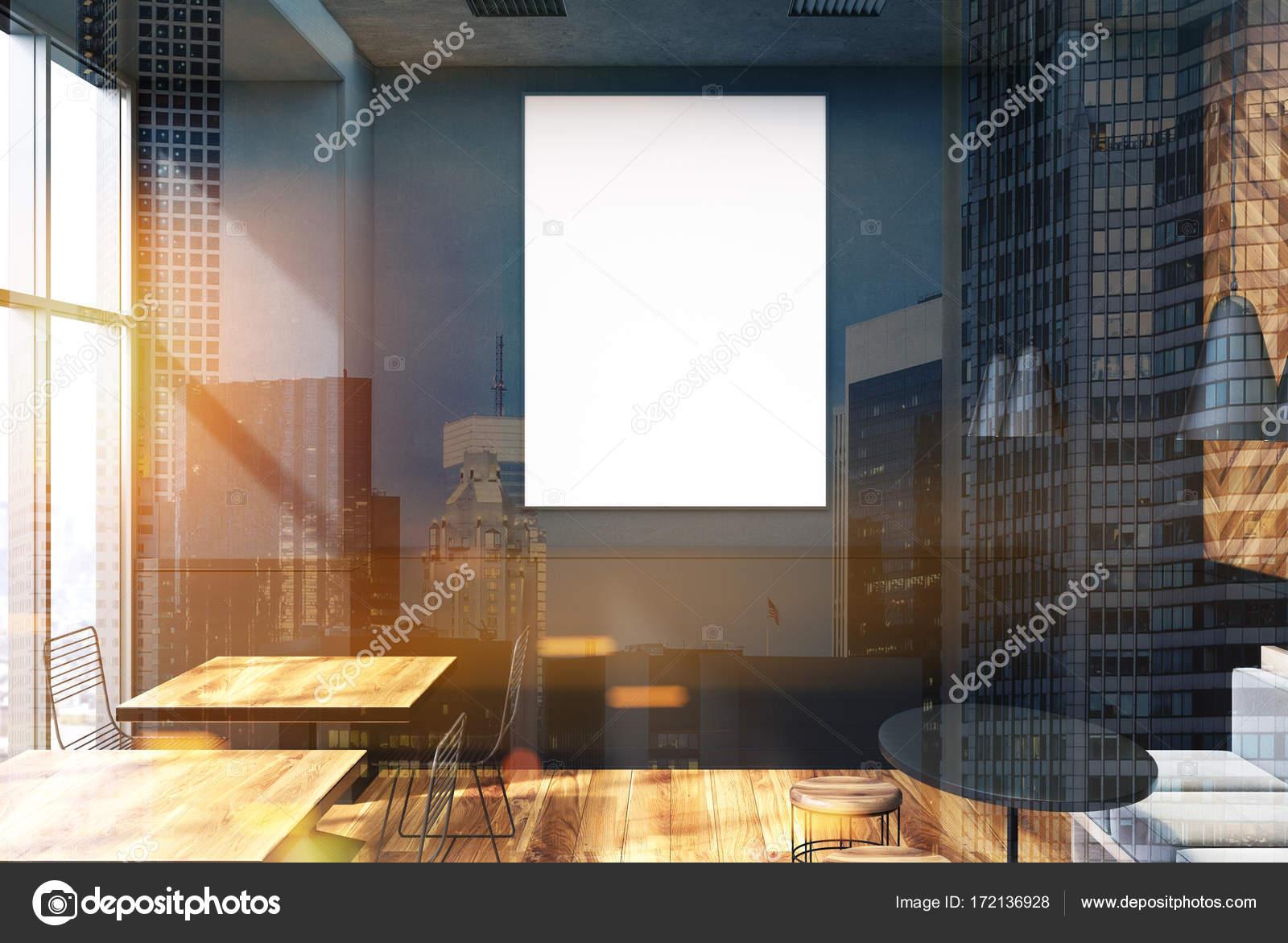 Graue Café Interieur, Plakat getönt — Stockfoto © denisismagilov ...