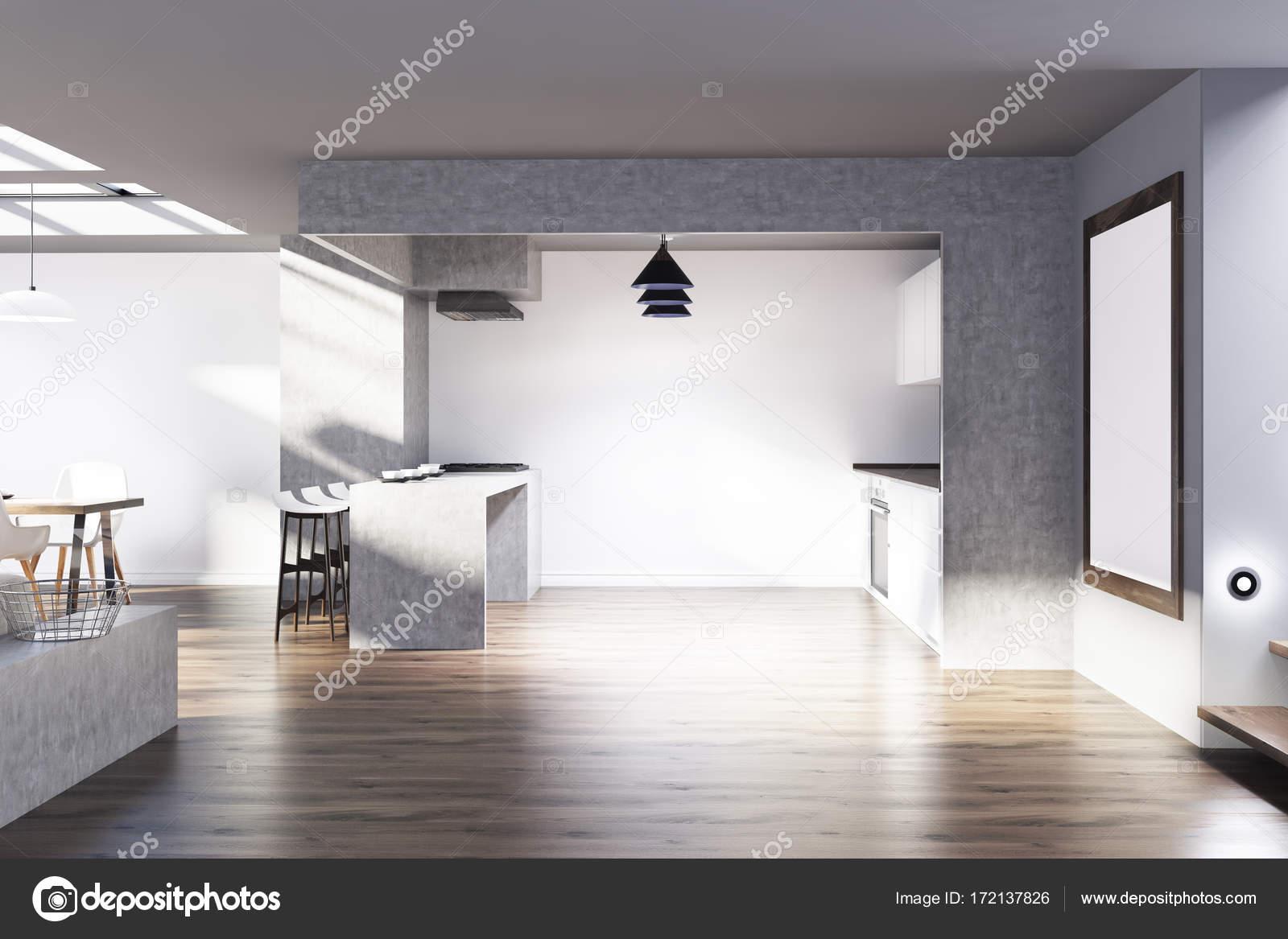Cucina bianca e grigia, poster — Foto Stock © denisismagilov #172137826