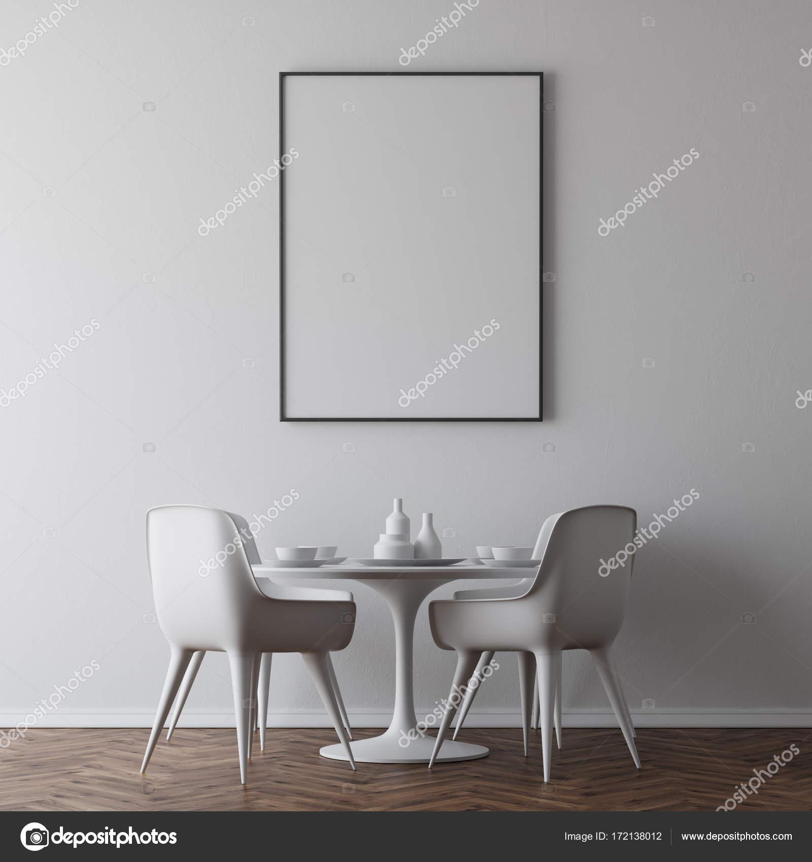 Table de salle à manger blanc, affiche — Photographie denisismagilov ...