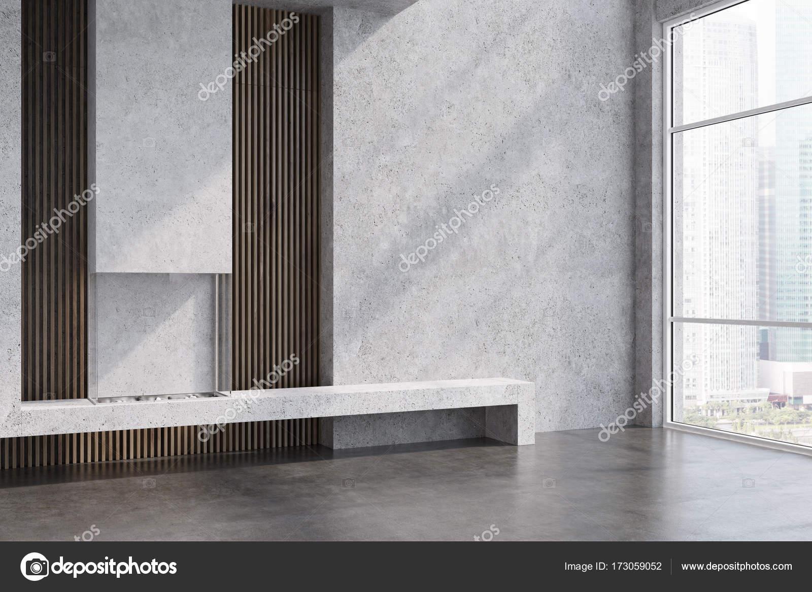 Holz Und Wohnzimmer Kamin Stockfoto C Denisismagilov