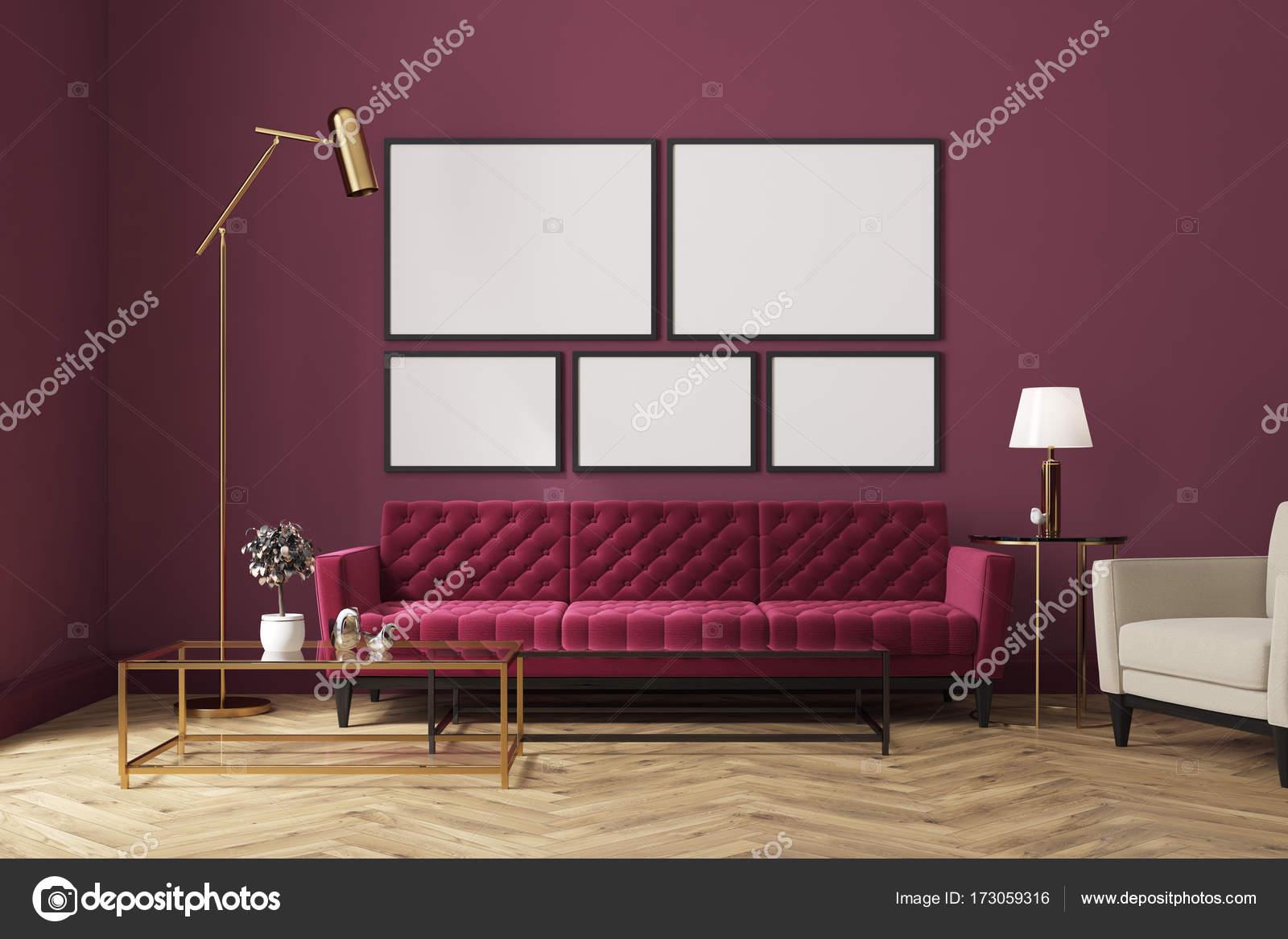 Canape Du Salon Violet Rouge Galerie Des Affiches