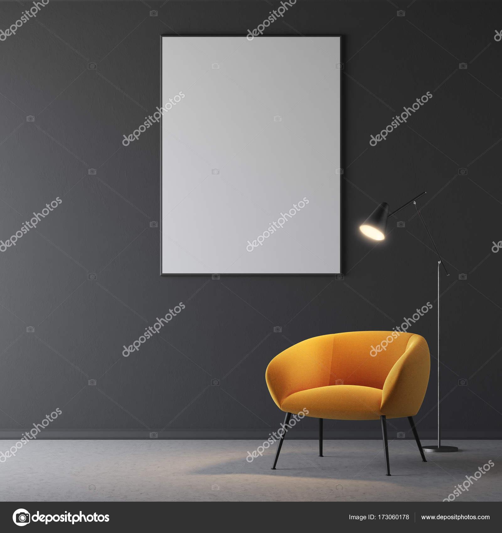 Gelb Schwarz Wohnzimmer Sessel, Plakat — Stockfoto © denisismagilov ...