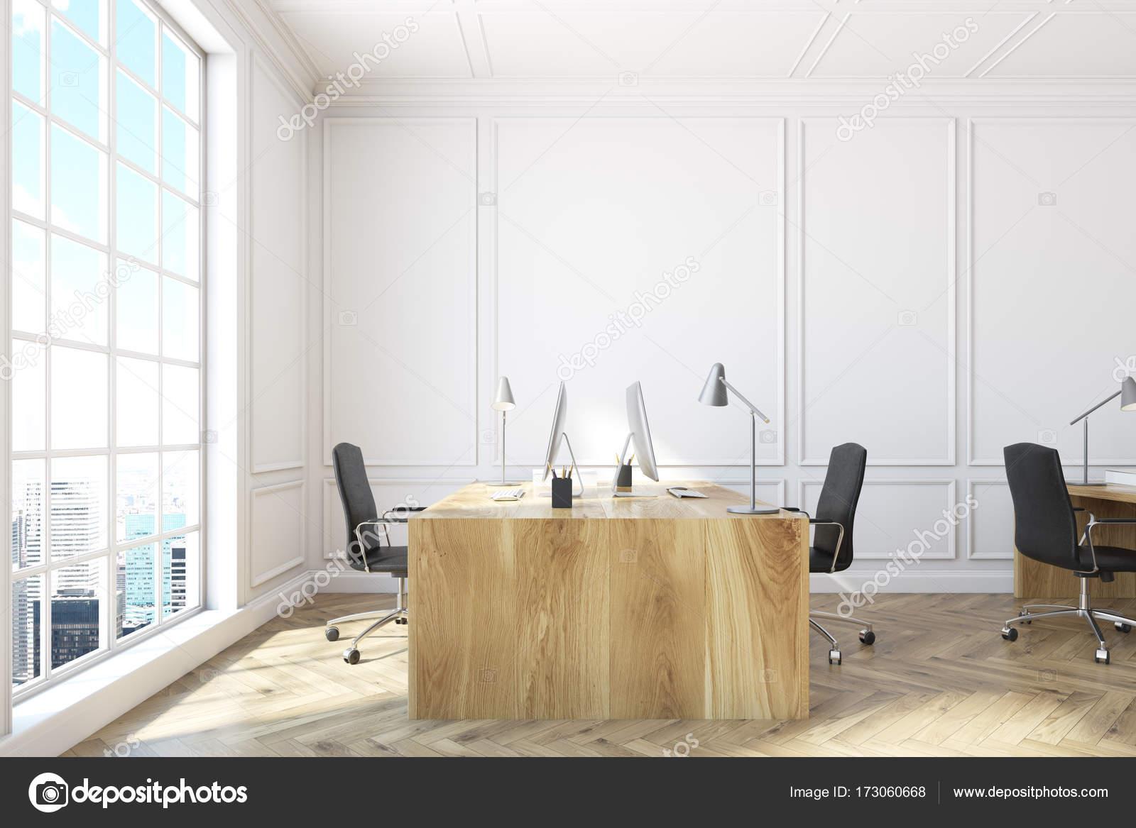 Blanc côté intérieur de bureau open space u photographie