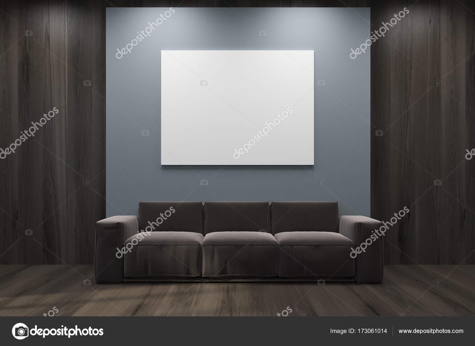 3d Fußboden Wohnzimmer ~ Grau und hölzerne wohnzimmer sofa poster u stockfoto