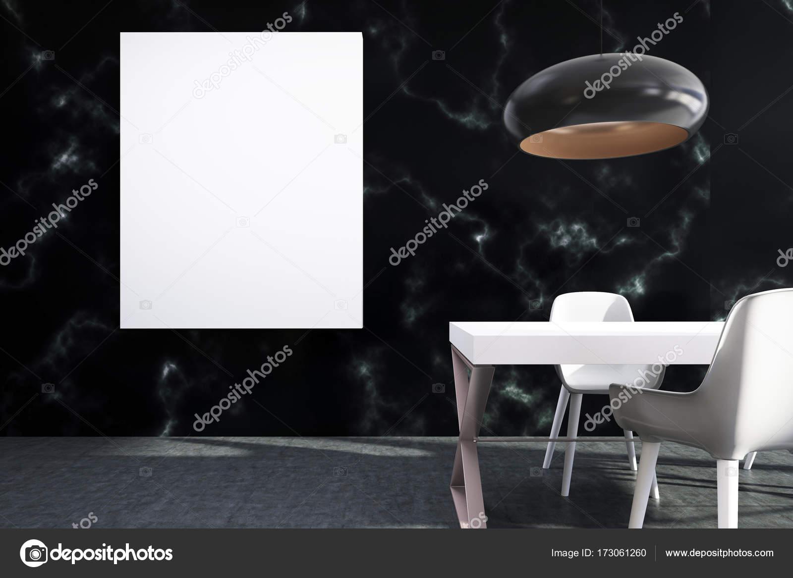 Schwarzer marmor speisesaal poster u2014 stockfoto © denisismagilov