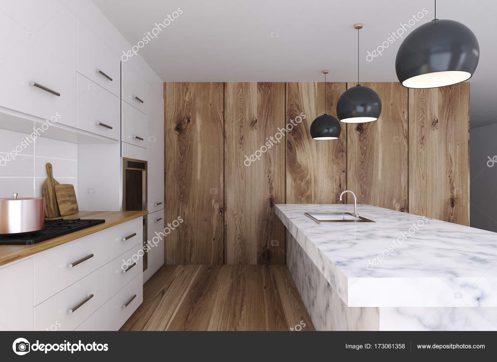 Wit marmeren keukenbar staan kant u2014 stockfoto © denisismagilov
