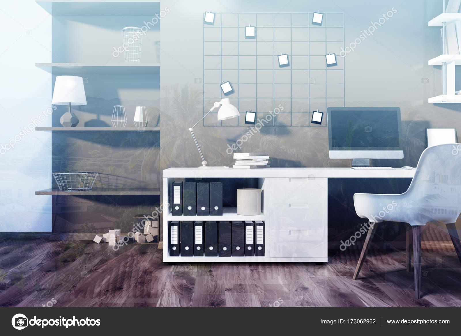 Ufficio Casa Legno : Interno di ufficio casa marrone tonica u foto stock