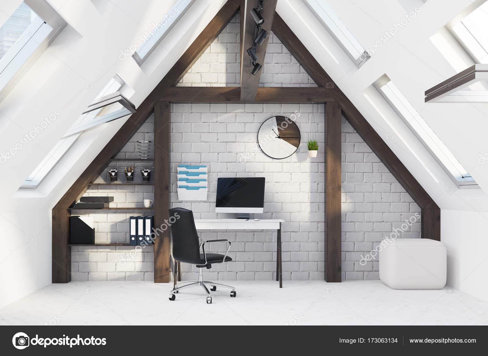 Ufficio Bianco E Legno : Interni in legno e bianco casa ufficio u foto stock