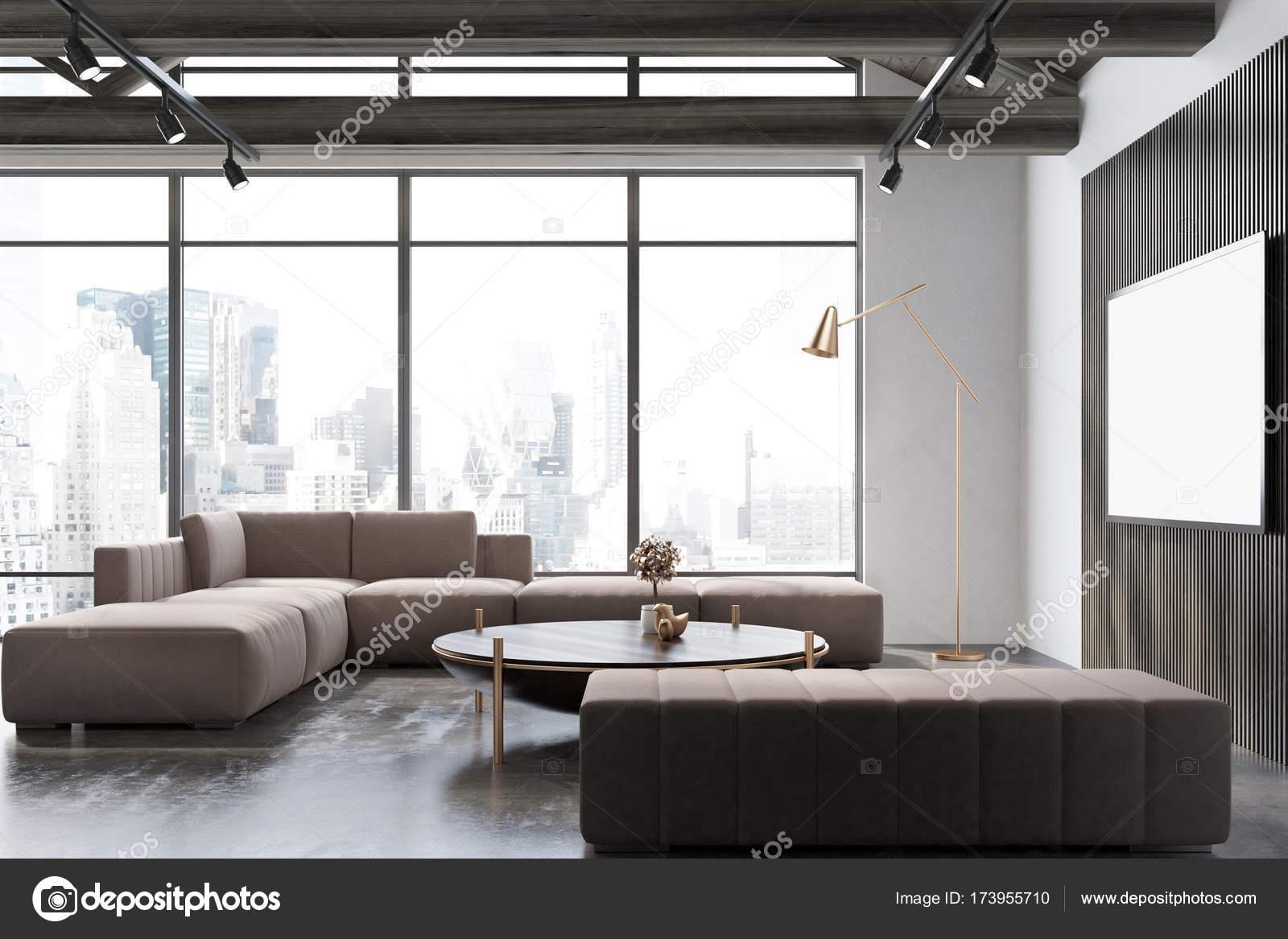 Salon blanc et en bois poster photographie - Salon blanc et bois ...